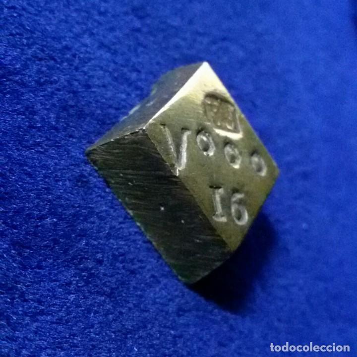 Antigüedades: Ponderal monetario pesal de 8 reales contramarca FR 27 gr - Foto 2 - 144449910