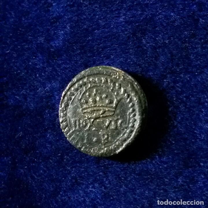 BONITO PONDERAL MONETARIO SIGLOS XVII-XVIII . PARA MONEDA DE 1 REAL 3,3 GR RARO (Antigüedades - Técnicas - Medidas de Peso - Ponderales Antiguos)