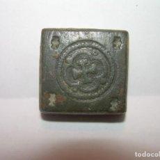 Antigüedades: ANTIGUO PONDERAL DE BRONCE.. Lote 144561406