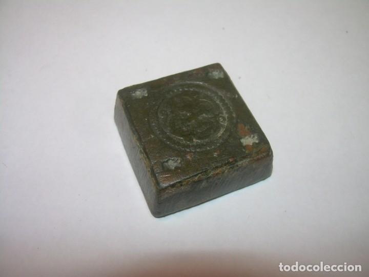 Antigüedades: ANTIGUO PONDERAL DE BRONCE. - Foto 3 - 144561406