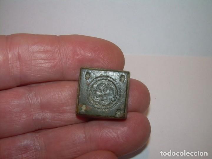 Antigüedades: ANTIGUO PONDERAL DE BRONCE. - Foto 6 - 144561406