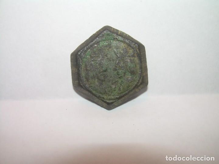 ANTIGUO PONDERAL DE BRONCE....REYES CATOLICOS..SIGLO XV. (Antigüedades - Técnicas - Medidas de Peso - Ponderales Antiguos)