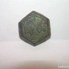 Antigüedades: ANTIGUO PONDERAL DE BRONCE....REYES CATOLICOS..SIGLO XV.. Lote 144561554