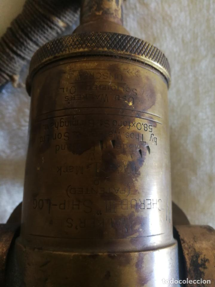 Antigüedades: ANTIGUA CORREDERA WALKERS CHERUB MARK III LOG SHIP - Foto 5 - 144616370