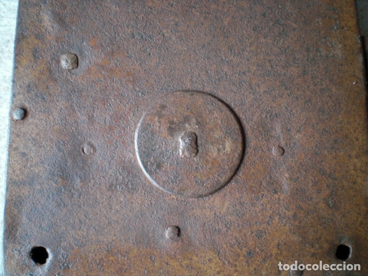 Antigüedades: ANTIGUA CERRADURA LLAVE Y BOCALLAVE DE FORJA SIGLO XIX ORIGINAL FUNCIONA PERFECTAMENTE - Foto 13 - 144398921