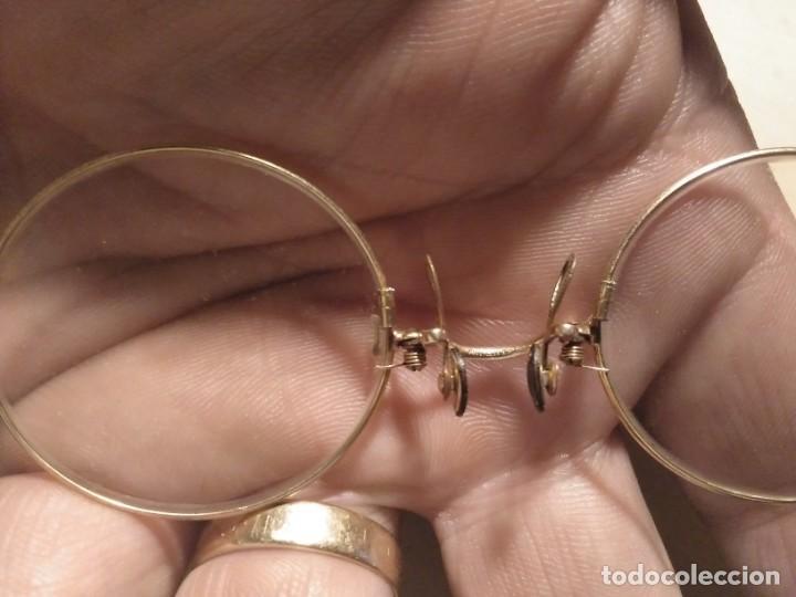 Antigüedades: Anteojos gafas de pinza binoculares Quevedo con montura y funda - Foto 3 - 144804998