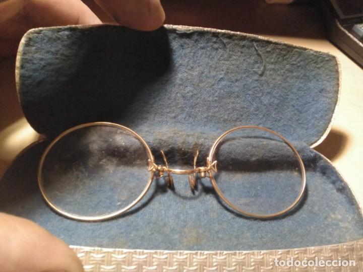 Antigüedades: Anteojos gafas de pinza binoculares Quevedo con montura y funda - Foto 6 - 144804998