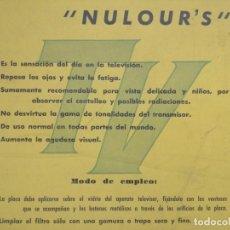 Antigüedades: ANTIGUO FILTRO PARA VER LA TV. NULOURS. 42X32 CM. Lote 144893938