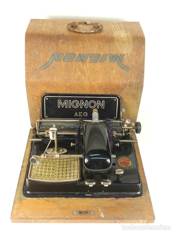 MÁQUINA DE ESCRIBIR MIGNON Nº4 AÑO 1924 (Antigüedades - Técnicas - Máquinas de Escribir Antiguas - Mignon)