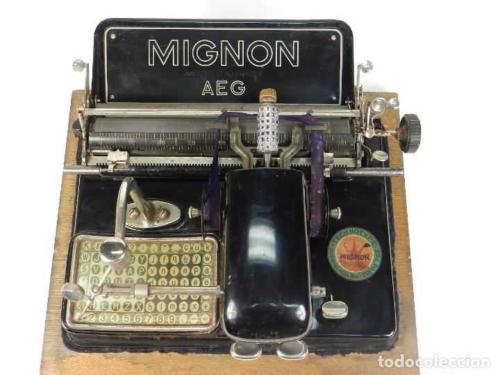 Antigüedades: MÁQUINA DE ESCRIBIR MIGNON Nº4 AÑO 1924 - Foto 3 - 145131166