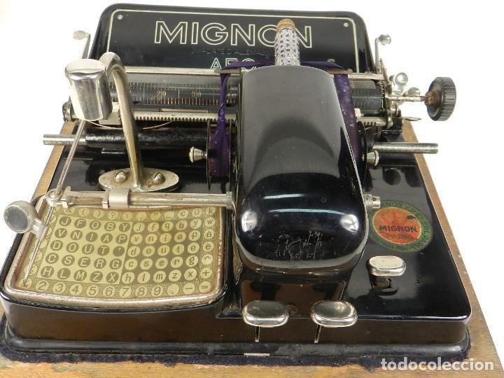 Antigüedades: MÁQUINA DE ESCRIBIR MIGNON Nº4 AÑO 1924 - Foto 5 - 145131166