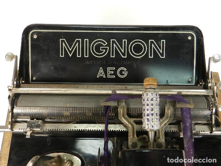 Antigüedades: MÁQUINA DE ESCRIBIR MIGNON Nº4 AÑO 1924 - Foto 7 - 145131166