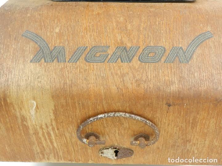 Antigüedades: MÁQUINA DE ESCRIBIR MIGNON Nº4 AÑO 1924 - Foto 8 - 145131166