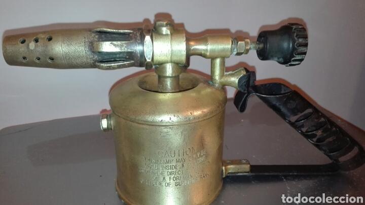 Antiquitäten: ANTIGUO SOPLETE BRANDON BIRMINGHAN. AÑO 1955 - Foto 8 - 145192952