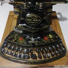 Antigüedades: ANTIGUA MAQUINA DE ESCRIBIR CRANDALL NEW MODEL LA MAS BONITA DEL MUNDO AÑO 1886 TYPEWRITER. Lote 145226938