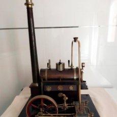 Antigüedades: MAQUETA DE CALDERA Y MOTOR DE VAPOR. Lote 145248042