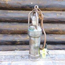 Antigüedades: LÁMPARA DE MINA MINERS LAMP GRUBENLAMPE LAMPE DE MINEUR. Lote 145279074