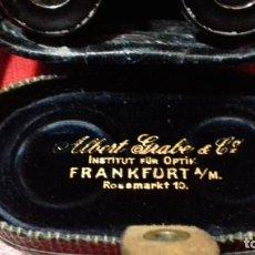 Antigüedades: PRISMATICOS-BINOCULARES ALBERT GRABE FRANKFURT. Lote 145306686