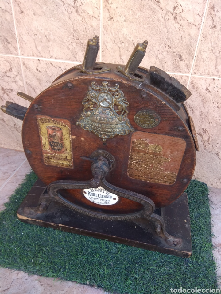 Antigüedades: Espectacular Afilador de Cuchillos Inglés Kents XIX - Foto 26 - 145356336