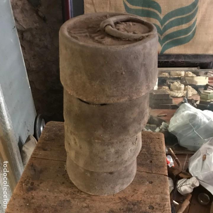 Antigüedades: Lote de pesas antiguas. - Foto 2 - 145596398