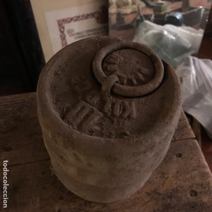 Antigüedades: Lote de pesas antiguas. - Foto 5 - 145596398