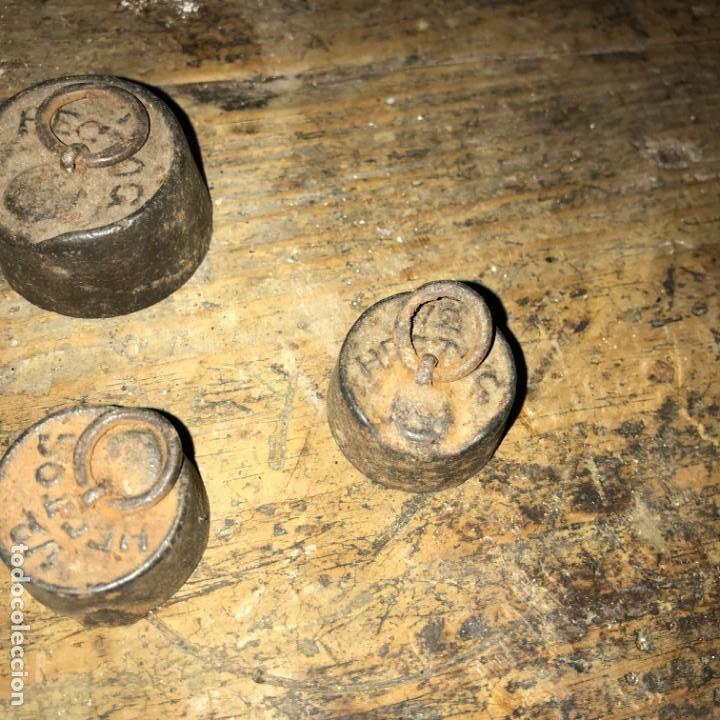 Antigüedades: Lote de pesas antiguas. - Foto 25 - 145596398
