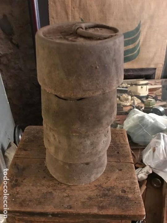 LOTE DE PESAS ANTIGUAS. (Antigüedades - Técnicas - Medidas de Peso Antiguas - Otras)