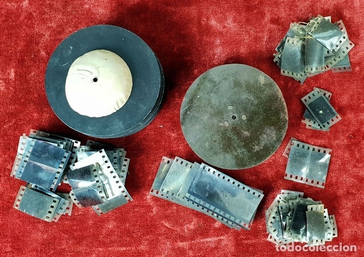Antigüedades: PROYECTOR DE CINE. MARCA MICRO. HOJALATA. SALVADOR MESTRES. 1950. - Foto 16 - 145728290