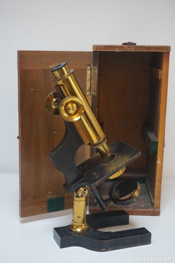 ANTIGUO MICROSCOPIO INGLÉS 'WATSON & SONS' C.1890 (Antigüedades - Técnicas - Instrumentos Ópticos - Microscopios Antiguos)