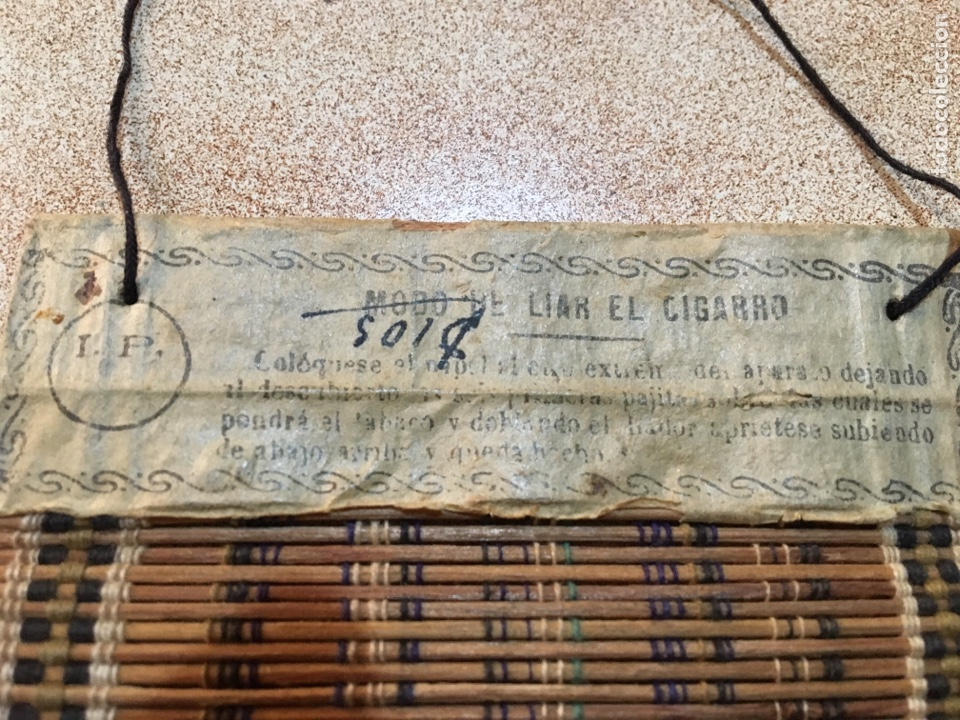 Antigüedades: Utensilio esterilla liar tabaco Iborra Paya Alcoy - Foto 3 - 145946881