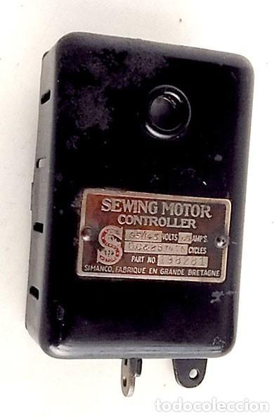 ANTIGUO CONTROLADOR DEL MOTOR SIMANCO-SINGER MÁQUINA DE COSER (Antigüedades - Técnicas - Máquinas de Coser Antiguas - Singer)