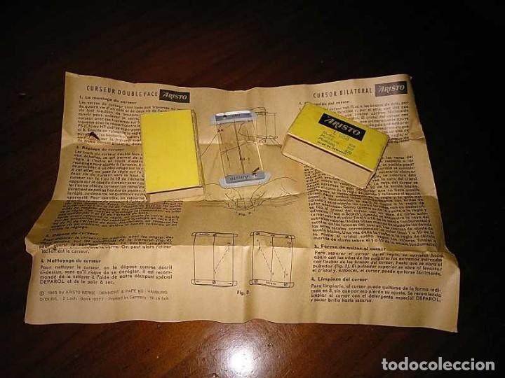 Antigüedades: CURSOR ARISTO L 868 PARA REGLA DE CALCULO - CALCULADORA - RUNNER SLIDE RULE RECHENSCHIEBER - Foto 4 - 146071686