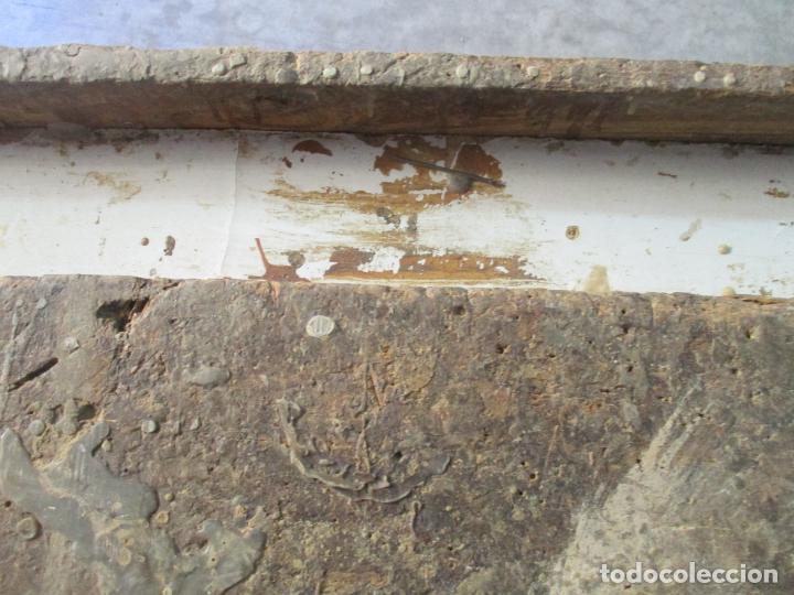 Antigüedades: Antiguo Banco de Carpintero - con Tornillo y Cajón - Largo 198 cm - Ancho - 43,5 cm - Altura 83 cm - Foto 7 - 146077142