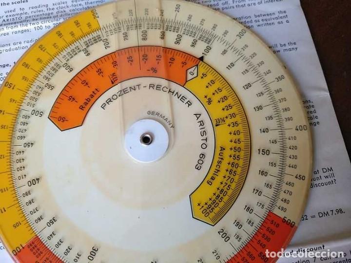 Antigüedades: REGLA DE CALCULO CIRCULAR ARISTO 603 CALCULADORA DE PORCENTAJES SLIDE RULE RECHENSCHIEBER R - Foto 14 - 146081530