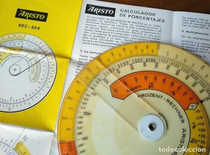 Antigüedades: REGLA DE CALCULO CIRCULAR ARISTO 603 CALCULADORA DE PORCENTAJES SLIDE RULE RECHENSCHIEBER R - Foto 22 - 146081530