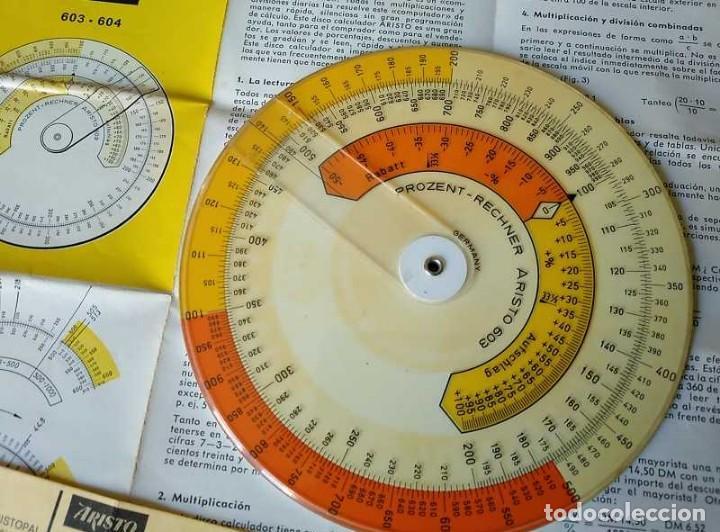 Antigüedades: REGLA DE CALCULO CIRCULAR ARISTO 603 CALCULADORA DE PORCENTAJES SLIDE RULE RECHENSCHIEBER R - Foto 24 - 146081530