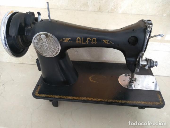 Antigüedades: ANTIGUA MAQUINA DE COSER ALFA - Foto 3 - 146083658