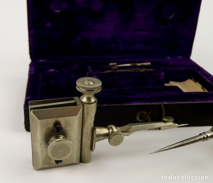 Antigüedades: Kern & Cie. Aarau Suisse (1885-1900) -Drafting Instruments-Instrumentos técnicos dibujo arquitectura - Foto 3 - 146089810
