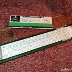 Antigüedades: REGLA CÁLCULO PRECISIÓN CUADRO ESCALAS AMPLIADO FABER-CASTELL NOVO-BIPLEX 2/83N COMPLETA REF-CV. Lote 146119794