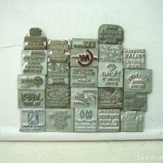 Antigüedades: COLECCION 23X CLICHES IMPRENTA -CATALOGO DE JOYERIAS ESPAÑA - CLICHE CUÑO PLACA PLANCHA JOYERIA 21. Lote 146157714