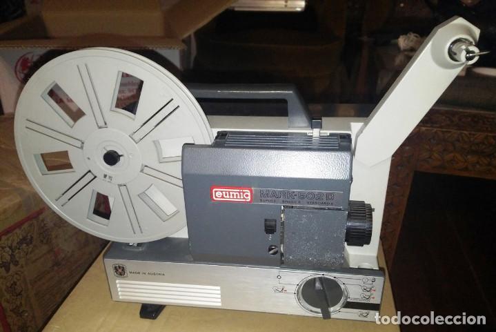 Antigüedades: PROYECTOR CINE EUMIG SUPER 8 SONORO- MARK 502- D - Foto 2 - 146168314