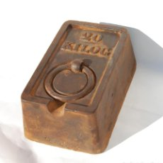 Antigüedades: PONDERAL PESA DE 20 KG RECTANGULAR. Lote 146175722