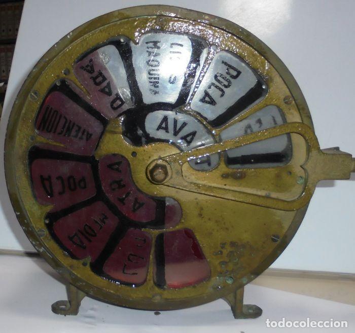 TELEGRAFO NAUTICO ORDENES A SALA DE MAQUINAS. BRONCE. 15 X 28 X 32 CM. VER FOTOS. LEER DESCRIPCION (Antigüedades - Antigüedades Técnicas - Marinas y Navales)