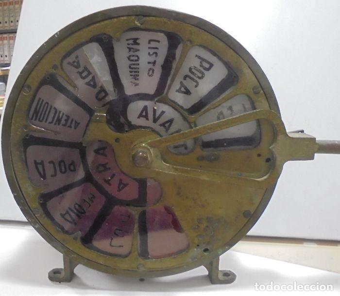 Antigüedades: Telegrafo Nautico ordenes a sala de maquinas. Bronce. 15 x 28 x 32 cm. Ver fotos. Leer descripcion - Foto 5 - 146195782