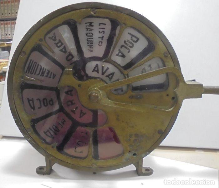 Antigüedades: Telegrafo Nautico ordenes a sala de maquinas. Bronce. 15 x 28 x 32 cm. Ver fotos. Leer descripcion - Foto 6 - 146195782