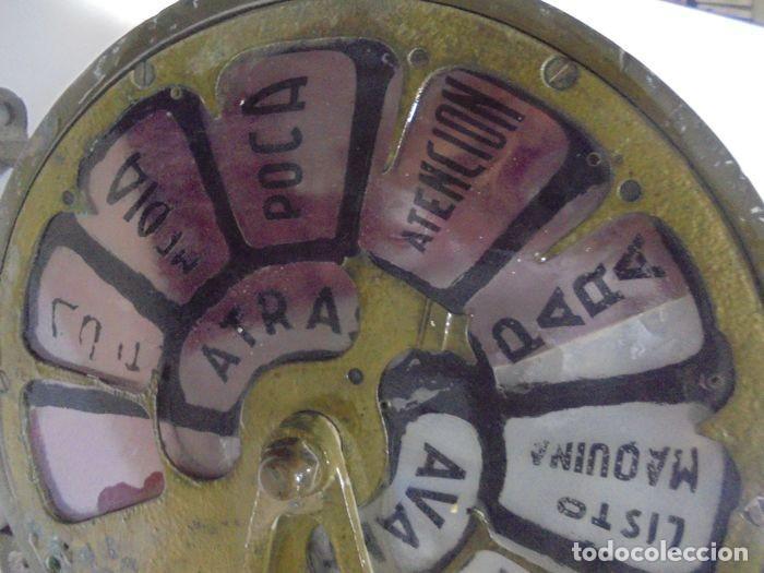 Antigüedades: Telegrafo Nautico ordenes a sala de maquinas. Bronce. 15 x 28 x 32 cm. Ver fotos. Leer descripcion - Foto 9 - 146195782