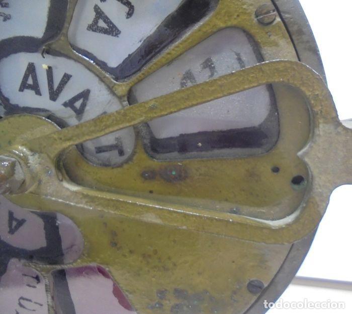 Antigüedades: Telegrafo Nautico ordenes a sala de maquinas. Bronce. 15 x 28 x 32 cm. Ver fotos. Leer descripcion - Foto 11 - 146195782