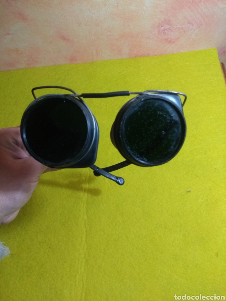 ANTIGUAS GAFAS DE SOLDAR (Antigüedades - Técnicas - Instrumentos Ópticos - Gafas Antiguas)
