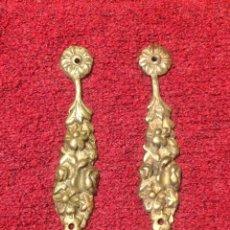 Antigüedades: PAREJA APLIQUES ANTIGUOS BRONCE. Lote 146456876