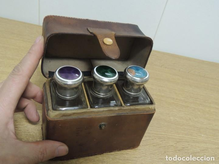 Antigüedades: perfumeros en estuche G.G - Foto 12 - 146692402